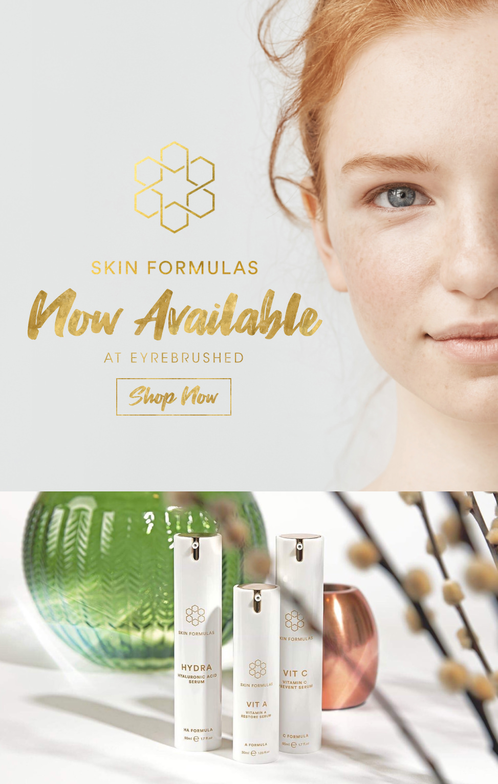 Skin Formulas Now Available at Eyrebrushed Kilkenny